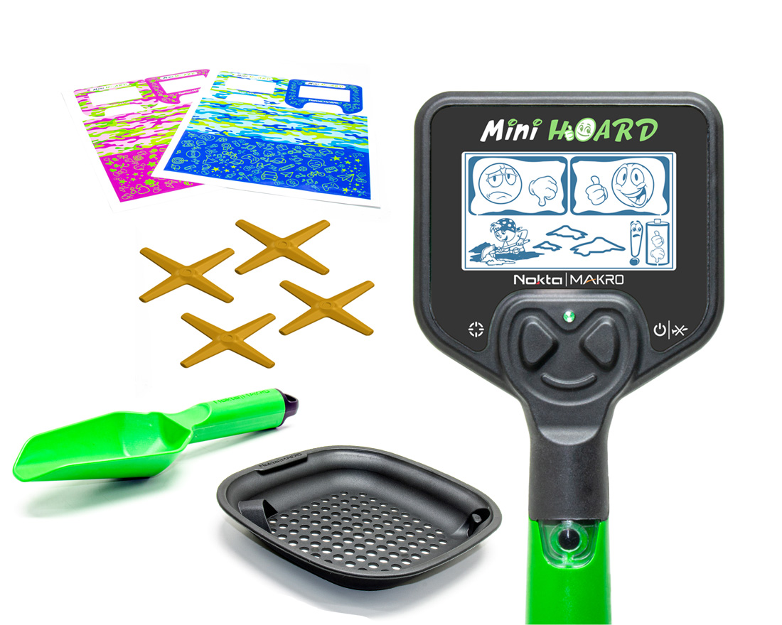Детский металлоискатель Nokta Makro Mini Hoard Cool Kit